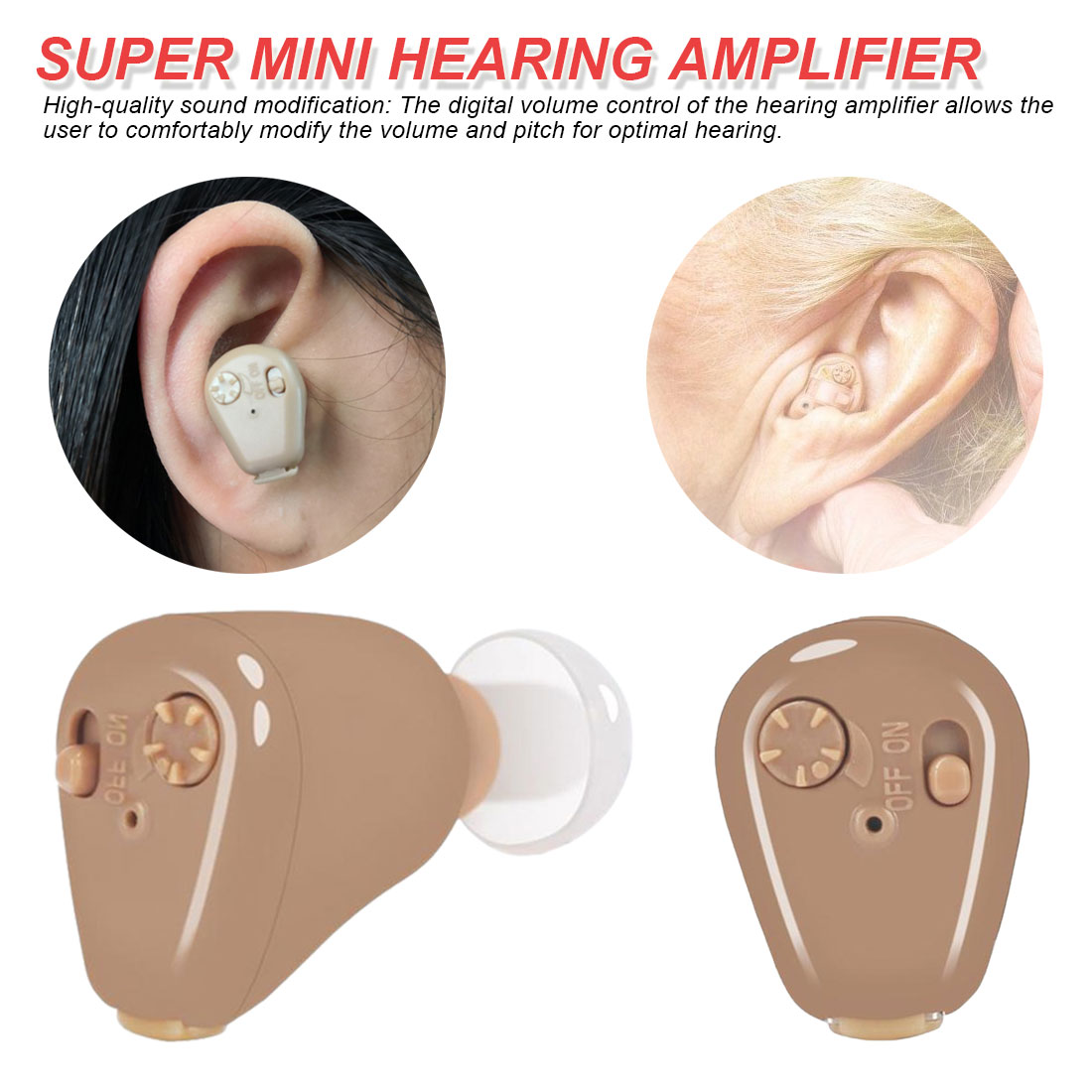 Mini Hearing Aids Hearing Amplifier  for Adults and Children