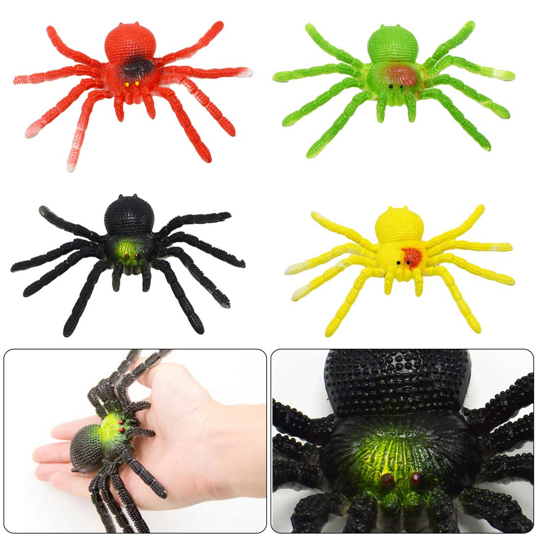 Tricky Spoof Toys Simulation Spider  Soft Rubber Animals Gif